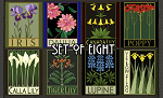 Stylized Flowers: Set of Eight